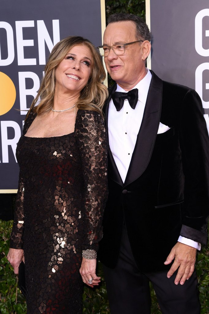 Rita Wilson et Tom Hanks 77e édition des Golden Globe Awards Coronavirus