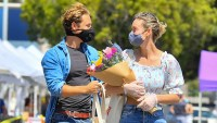 Brie Larson flowers shopping