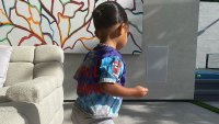 Stormi Webster Matches Her Hair Accessories to Her Tie-Dye T-shirt