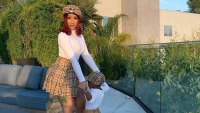 Cardi B Twins With Her Daughter Kulture in Burberry Plaid