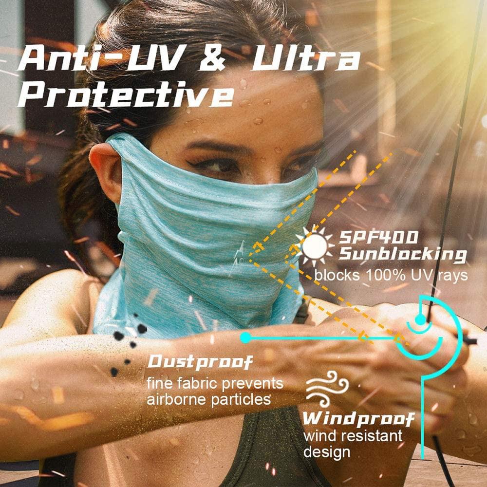 #3 best reusable cloth face mask: ARRUSA summer cool face masks