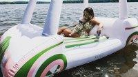 Maren Morris Hayes Inflatable Instagram Parenting Police