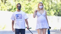 Pregnant Sophie Turner Cradles Her Baby Bump on a Walk With Joe Jonas