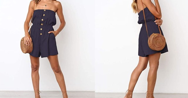 Shoppers Are Buying This Strapless Casual Romper in Every Color.jpg