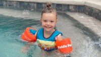 Summer Swimming! Meghan King Edmonds' Daughter, More Kids Playing in Pools