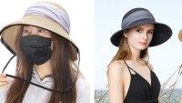 Jeff & Aimy UPF 50 Straw Sun Hat