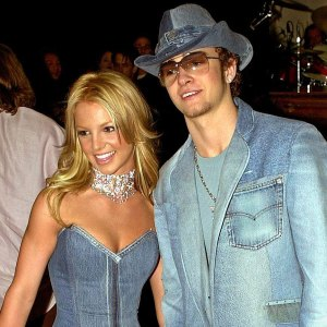 Britney Spears and Justin Timberlake American Music Awards Denim