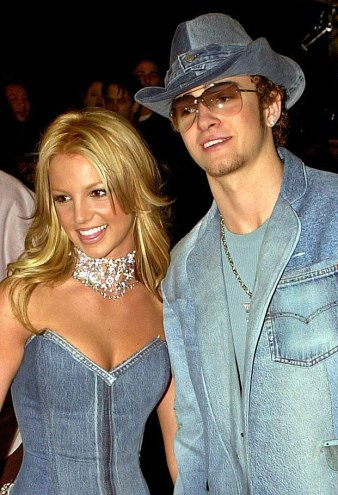 Britney Spears and Justin Timberlake American Music Awards Denim