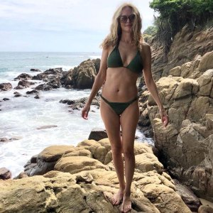 Heather Graham Green Bikini Beach