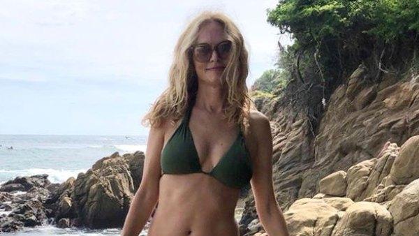 Heather Graham Green Bikini Beach