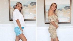 Lindsay Arnold Models Maternity Looks in 27th Week of Pregnancy
