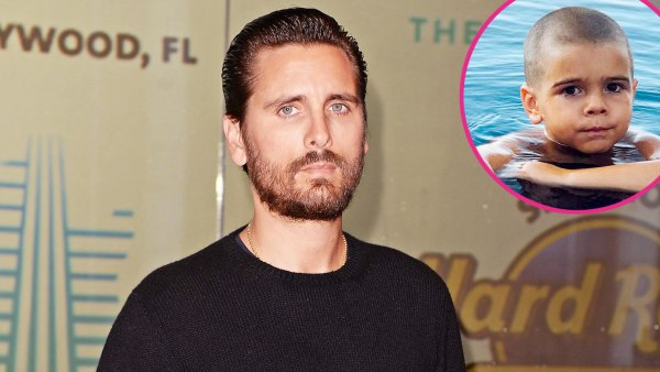 Scott Disick Shares New Photo Reign Shaved Head Play on Playa