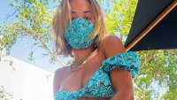 Epic! Rita Ora Pairs Floral Bikini With a Matching Face Mask