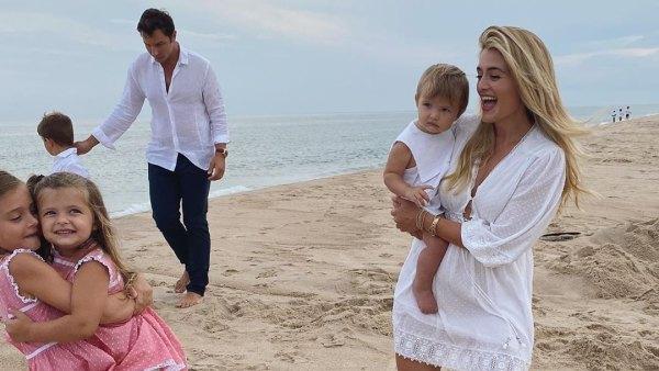 Daphne Oz beach family photos