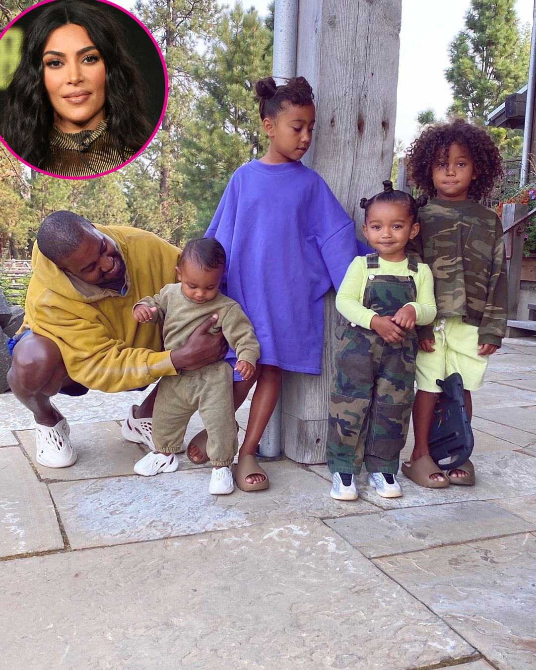 Kim Kardashian Shares Photo of 4 Kids With Kanye West: I'm 'So Lucky'