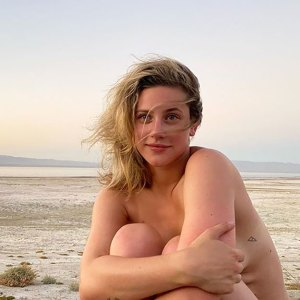 Lili Reinhart Poses Nude in the Desert