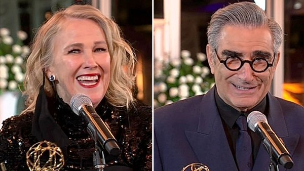 Warmest Regards Schitts Creek Stars Reunite Emmys Win Big Emmys 2020 Catherine OHara Eugene Levy