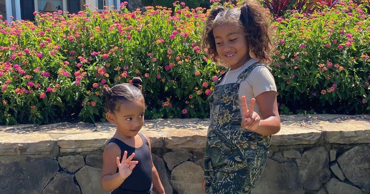 North West Teaches Little Sister Chicago How to Make a Peace Sign, More Sweet Pics