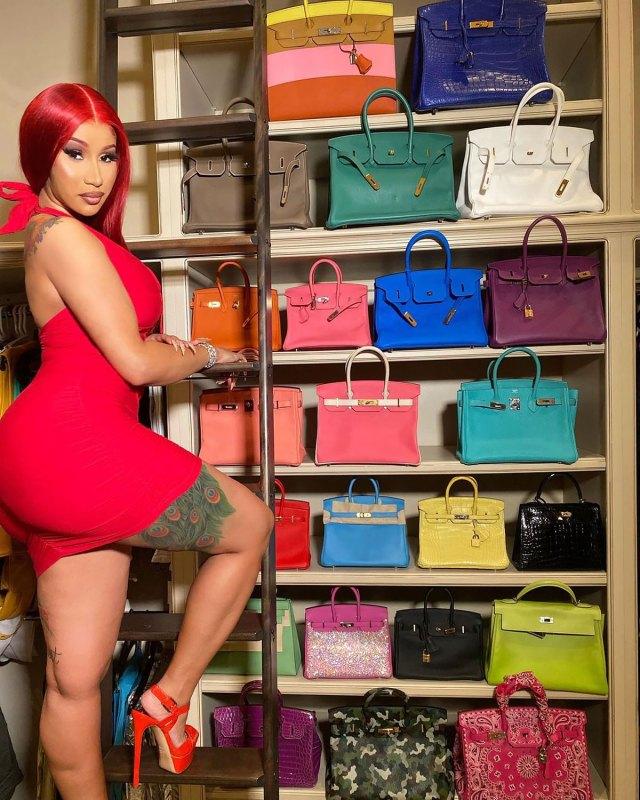 OMG! Cardi B montre sa collection de sacs Birkin insensés