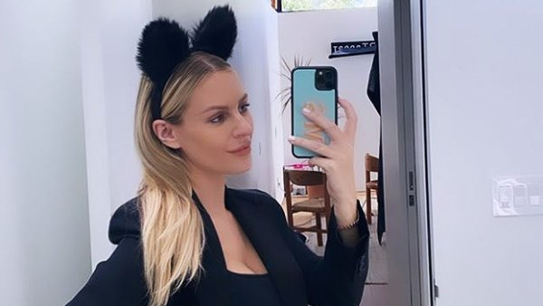 Cat Costume See Pregnant Morgan Stewart Dressing Up Baby Bump