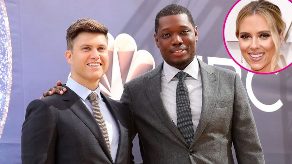 Colin Jost Jokes About Michael Che Objecting at Scarlett Johansson Wedding 1