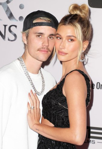 Justin Bieber and Hailey Bieber at Justin Bieber Seasons TV show premiere Hailey Baldwin Debuts Two New Tattoos and One Is for Justin