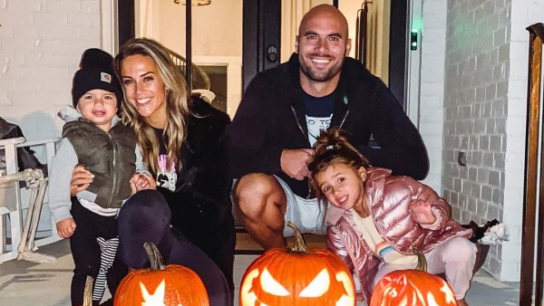 Jana Kramer and Mike Caussin pumpkin carving