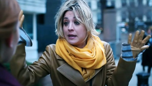 Kaley Cuoco Runs Cover Dark Flight Attendant Trailer