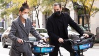 Katie Holmes and BF Emilio Vitolo Jr. Ride Bikes in Style