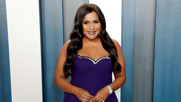 Mindy Kaling Daughter Katherine Has Had Smooth Adjustment to Big Sisterhood After Spencer Birth Purple Dress Vanity Fair