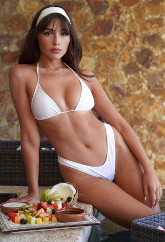 Olivia Culpo Slays in the Chicest White Bikini