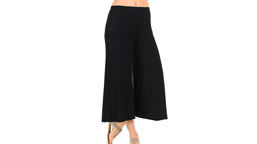 iconic luxe Women's Elastic Waist Jersey Culottes Pants