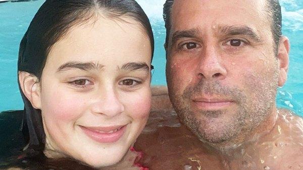 Randall Emmett and Daughter London in Swimming Pool