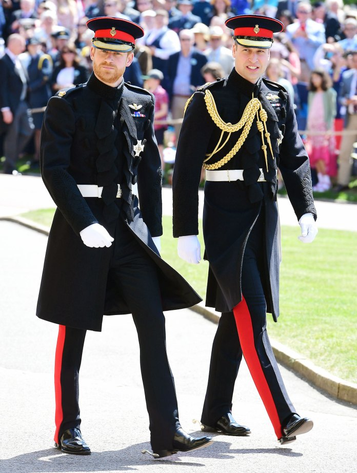 Prince Harry and Prince William arrive for the wedding of Prince Harry and Meghan Markle The Crown Emma Corrin Says She Would Leave If She Saw Prince William and Prince Harry at a Party
