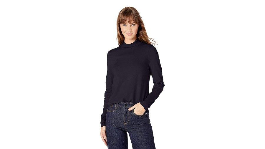 Lark & Ro Warm Handed Synthetic Mock Neck Sweater