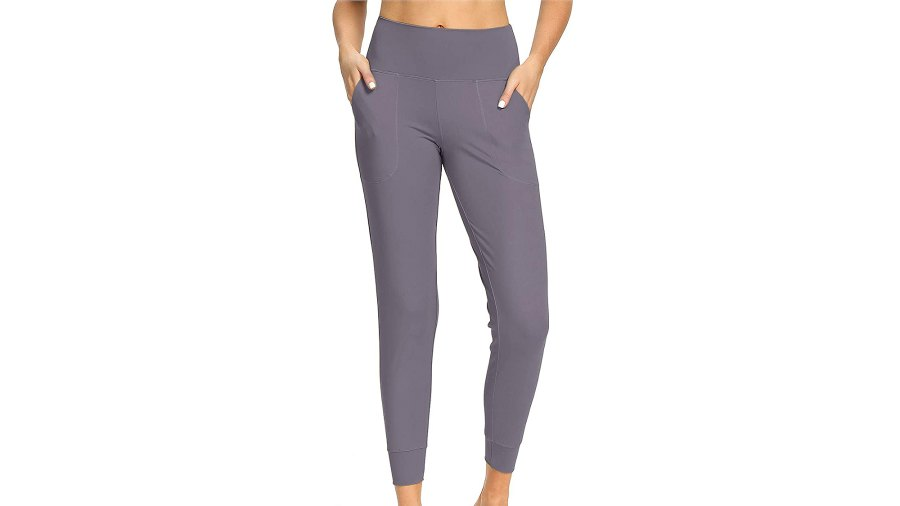 Mesily Women's Athletic High Waist Sweatpant Yoga Pant with Pockets