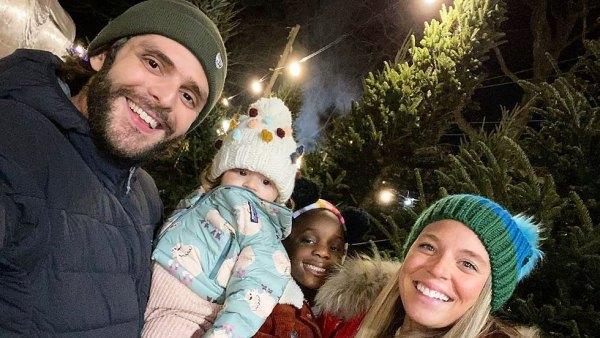 Thomas Rhett and Lauren Akins Pick Christmas Tree With 3 Daughters