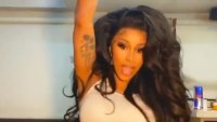 Cardi B Rocks Voluminous Curls as She Dances in Her Underwear