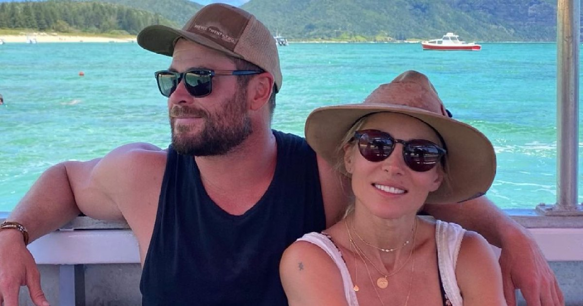 Chris Hemsworth Poses Shirtless During Island Family Getaway Ahead of 'Thor' Filming