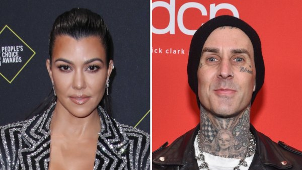 Kourtney Kardashian and Travis Barker Hang Out Together at Kris Jenner's Palm Springs Home