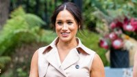 Meghan Markle during a Creative Industries and Business Reception in Johannesburg How Meghan Markle Hid Her Baby Bump Ahead of 2nd Pregnancy Announcement