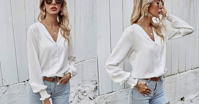 You Can't Go Wrong With This Airy Button-Down Blouse.jpg