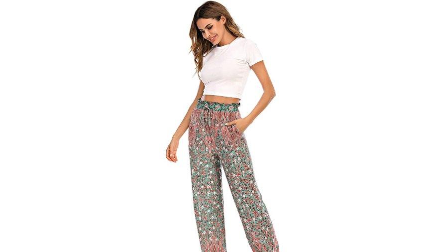 Love Welove Fashion Women's Summer Printed Yoga Harem Pants