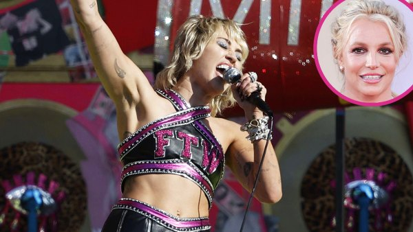 Miley Cyrus Send Britney Spears Love at Pre-Super Bowl Show Amid Controversy p