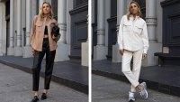 The Drop Women's @lisadnyc Faux Leather Long Shirt Jacket