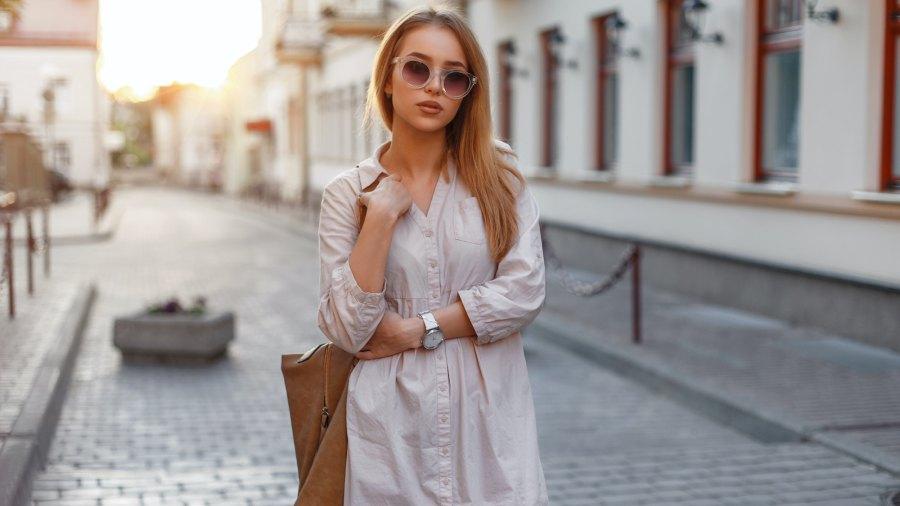 Casual-Shirt-Dress-Stock-Photo