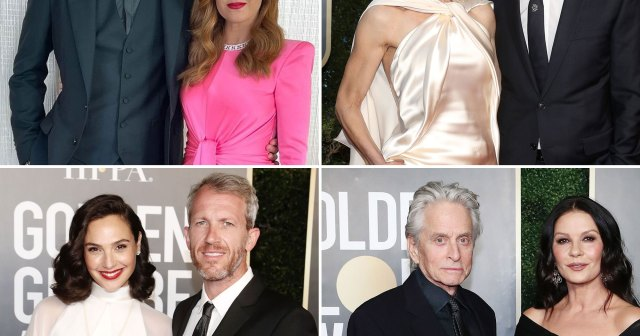 All the Cutest Couples at the Golden Globes 2021: Sacha Baron Cohen and Isla Fisher and More.jpg