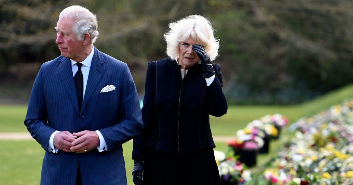 Prince Charles and Duchess Camilla Get Emotional During Visit to Memorial Garden After Prince Philip's Death