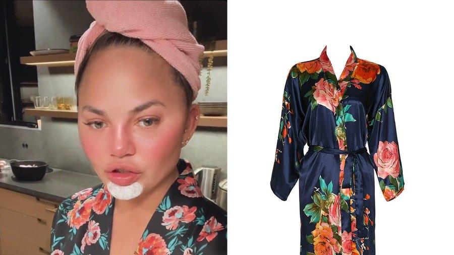 chrissy-teigen-silky-robe
