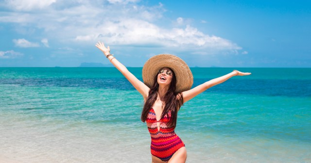 17 Flattering Tummy-Control Swimsuits With V-Necks to Shop Now.jpg
